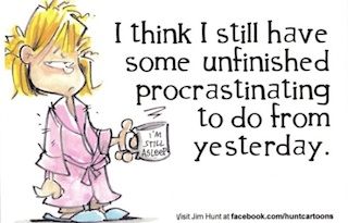 procrastination cartoon