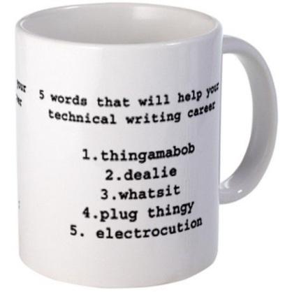 writing mug