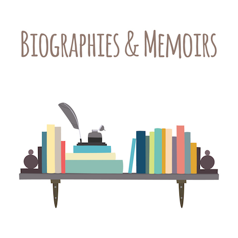 "Category for a bookstore or library. Bookshelves  ""Biographies & Memoirs""."