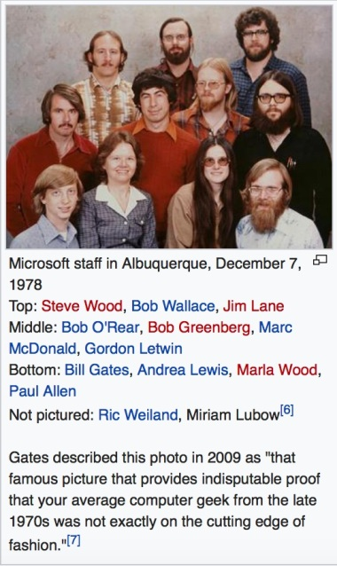 Early Microsoft photo